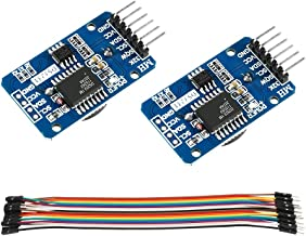 DS3231 AT24C32 IIC RTC Module Clock Timer Memory Module Beats Replace DS1307 I2C RTC Board for Arduino(Batteries not Included) + 20 PCS Male to Female Jumper Wire Cable