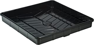 Botanicare HGC707345 Outside Dimension Tray, Perfect for Compact Spaces, Tall Sidewalls, Rolled Edges, Superior Rigidity Diagonal Drainage Grids, Black ABS Plastic, 4 ft Square, 4 x 4
