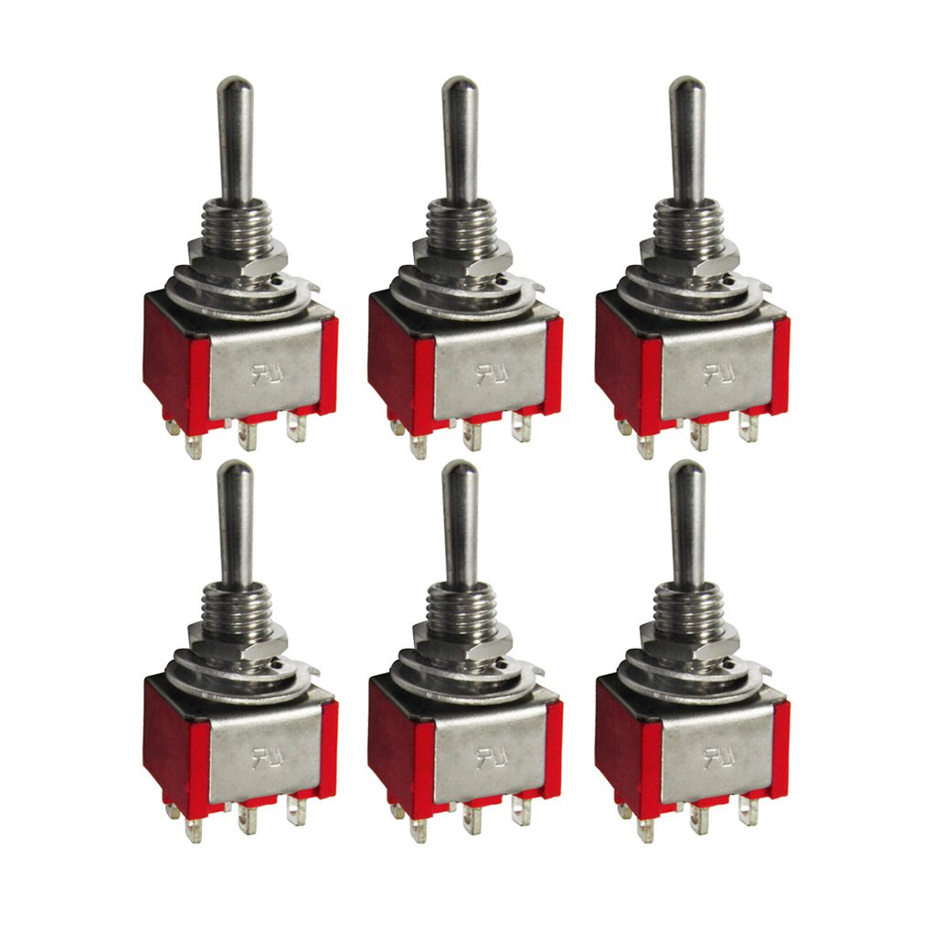 FLEOR 2 Way Red Selling Mini DPDT Switch AC 6 Ranking TOP8 Toggle Micro 1 Pins
