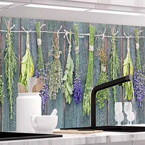 StickerProfis Küchenrückwand selbstklebend Pro MEDITERRANE KRÄUTER 60 x 340cm DIY - Do It Yourself PVC Spritzschutz