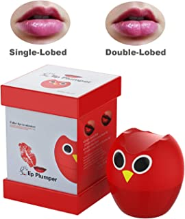 Lip Plumper Device,Lip Plumper Enhancer Lip Plumper Tool Suction Cup Mouth Lips Enlargement Tools Plumping Bigger Lips Device-owl red