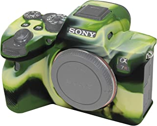 Easy Hood Schutzhülle für Sony Alpha 7R IV A7R IV A7RIV A7RM4 ILCE 7RM4 Digitalkamera, kratzfest, weiches Silikongummi, Schutzhülle (Camo)