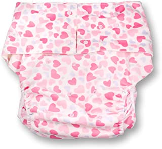 Rearz - Hearts - Adult Pocket Diaper (Minky Fabric)
