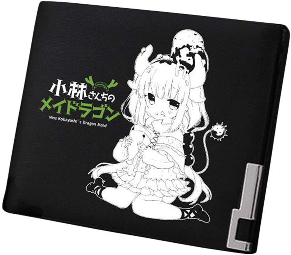 Gumstyle Kobayashi-san Chi no Maid Dragon Anime Artificial Leather Wallet Billfold Money Clip Bifold Card Holder 15