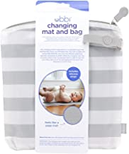 Ubbi On The Go Travel Diaper Gray and White Changing Mat Bag Baby Gift