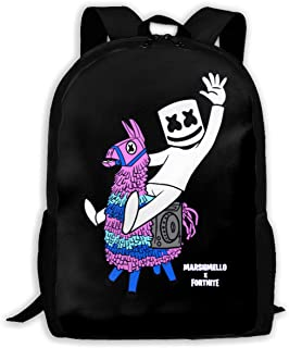 GREATIBAG Marshmello Fortni Graphic School Backpack Durable Lightweight Large Space Waterproof Daypacks Student Adult