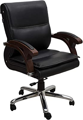 DZYN Furnitures Low Back Equisite Finish Office Executive Chair (Black)