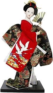 STOBOK Geisha Doll Ornaments Handicrafts Statuette Japanese Resin Creative Folk Ethnic Figurine Gift for Home Store Office...