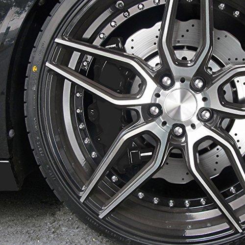 JOM 200005 Bremssattellack, Bremssattel Lackier- Set, schwarz, 1K-System, Bremssattellack 75ml, Bremsenreiniger 250ml, Pinsel und Handschuhe