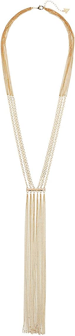 GUESS - Dainty Chain Y Necklace