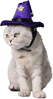 HXINFU Pet Christmas Cat Hat Christmas Hats for Dogs Christmas Witch Hat Cute