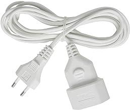 Brennenstuhl Kunststof Verlengkabel, Voor Binnen, 3 M Kabel, Met Euro-Stekker En Koppeling), Wit