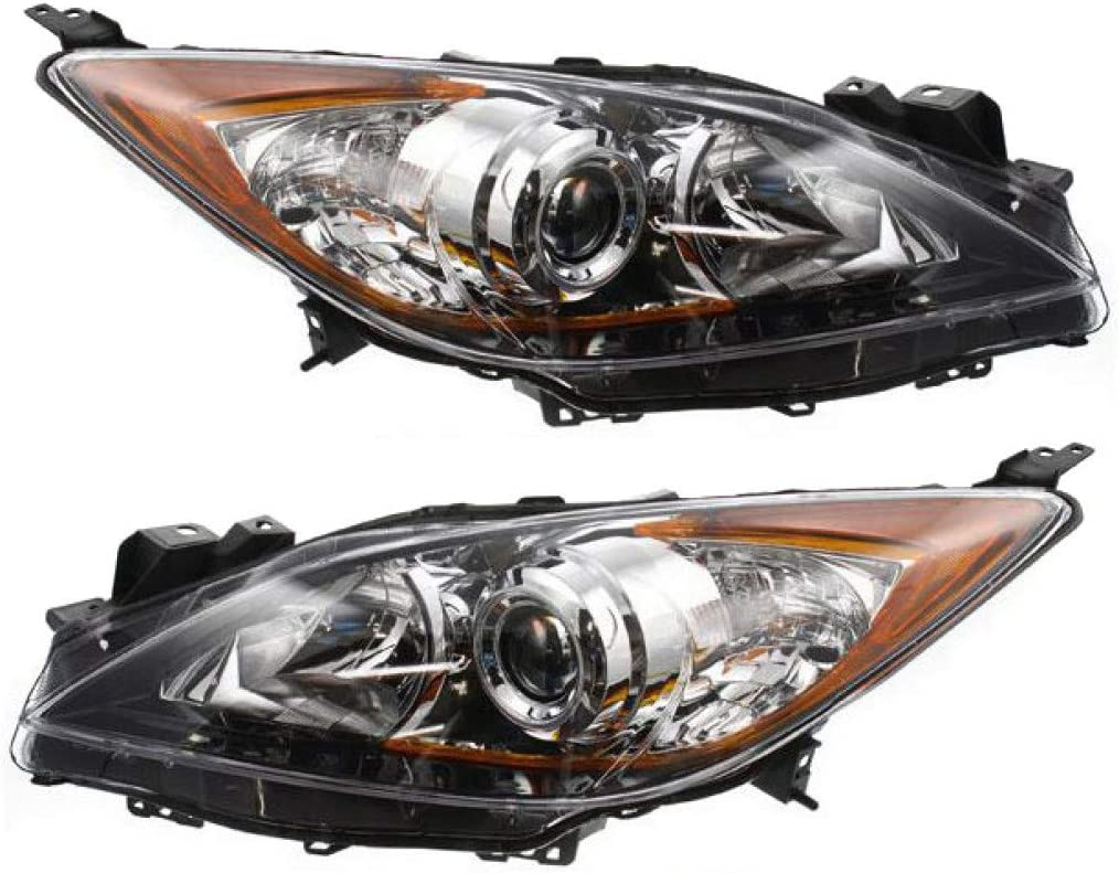 For Mazda 3 Headlight 2010 11 Passenger 2013 and Limited time trial price Pair Daily bargain sale Driver 12