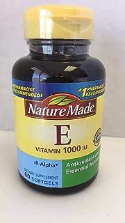 Nature Made dl-Alpha Vitamin E 1000 IU Softgels 60 ea (Pack of 2)