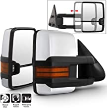 Acanii- Telescoping Manual Trailer Towing Side Chrome Mirrors Driver+Passenger For 1999-2006 Silverado Sierra Left+Right