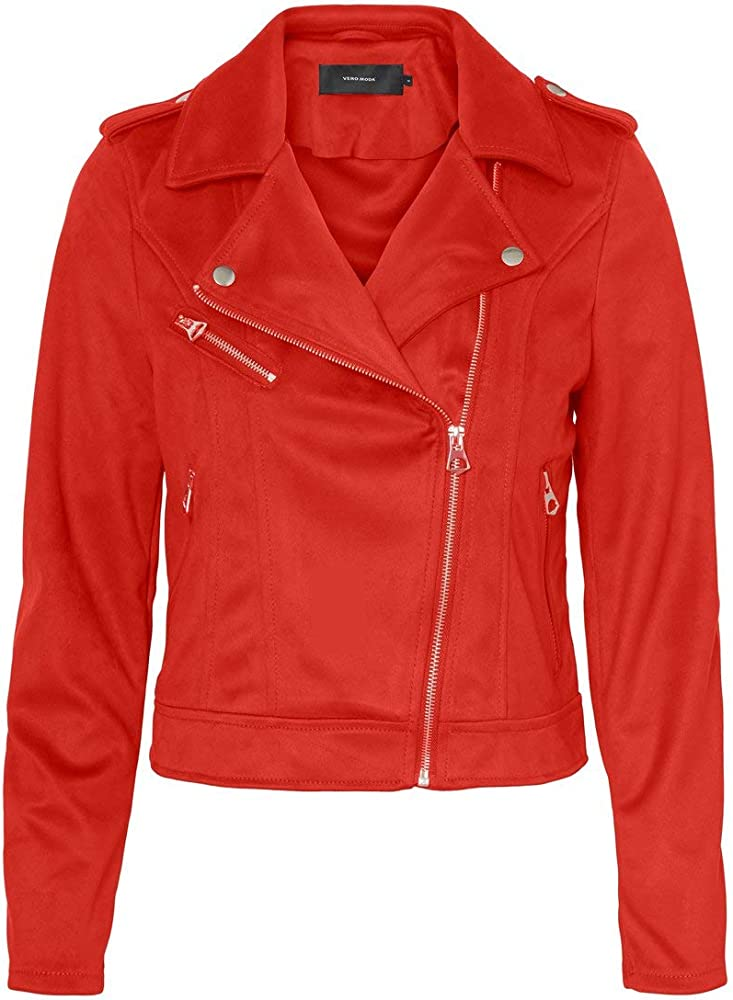 Vero moda vmyeslea short faux suede jacket, giubotto in ecopelle per donna 10225597