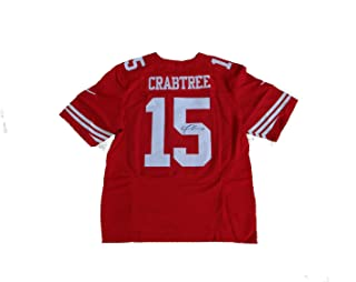 Michael Crabtree Autographed Signed San Francisco 49ers Red Jersey Memorabilia - JSA Authentic