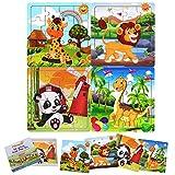 FLORMOON Holzpuzzle für Kinder 2-6 Jahre - Kein Sägemehl kein