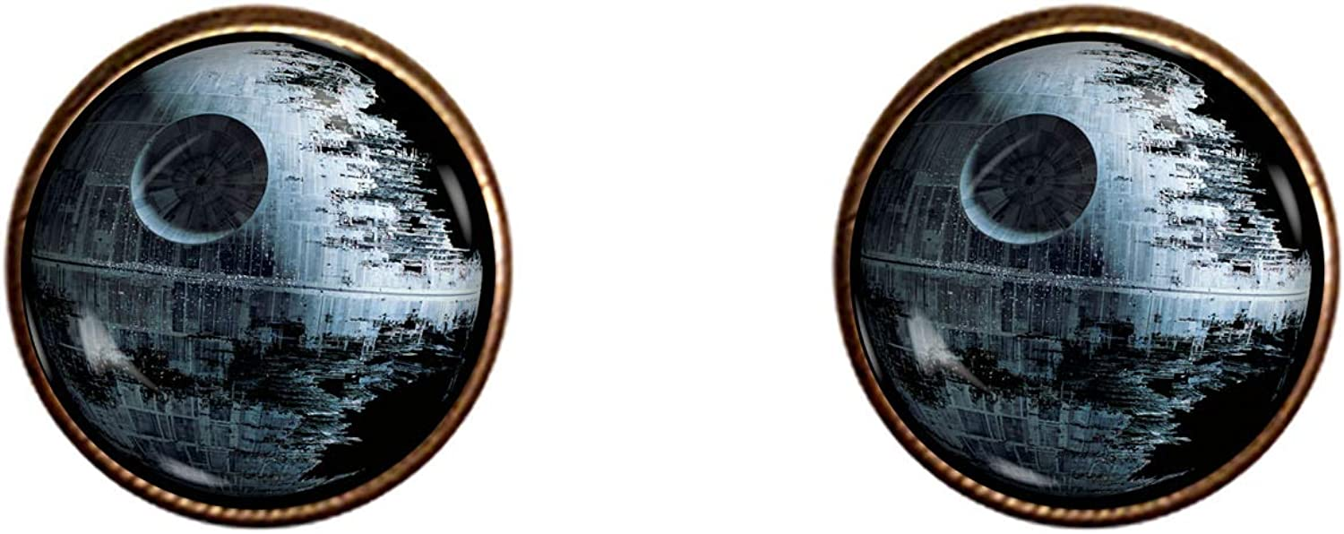 CHAOTICFASHION Deathstar Cuff Links 16mm Wars Jewe It is very popular Star Be super welcome Handmade