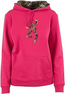 Women's Browning Camo Buckmark Hooded Sweatshirt, Fuchsia, M