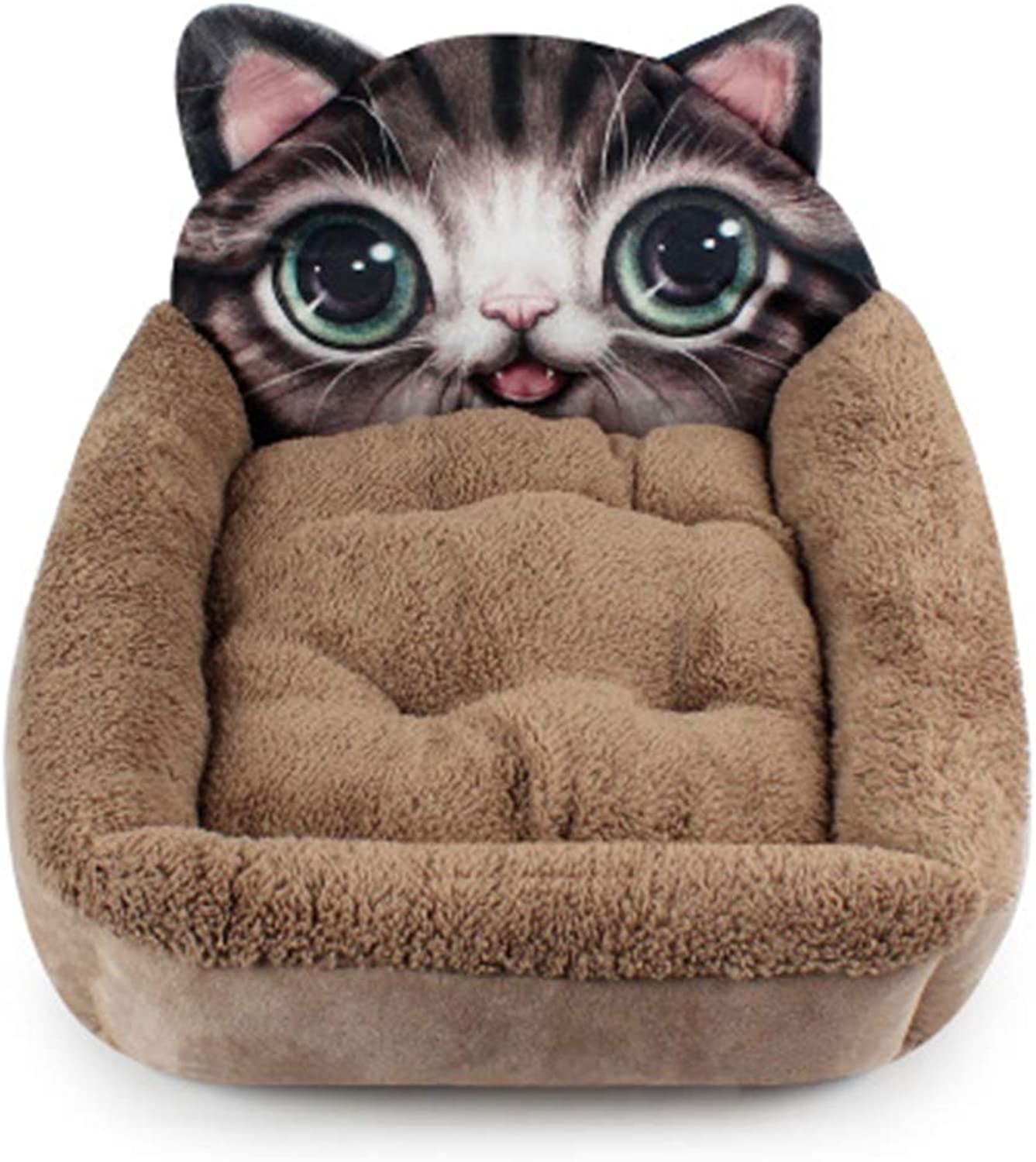 Jim Hugh 3D Cartoon Dog Beds Small Pets Cat Cushion Totgold Puppy Bed Blanket Winter Warm Soft Dogs Kennel Mat Pug House