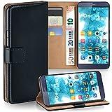 MoEx Premium Book-Hülle Handytasche kompatibel mit Huawei ShotX | Handyhülle mit Kartenfach & Ständer - 360 Grad Schutz Handy Tasche, Schwarz