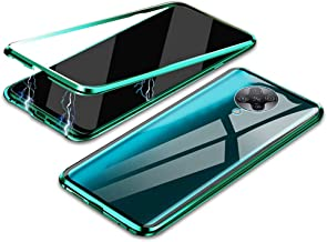 """EUDTH Redmi K30 Pro Case, 360° Full Body Magnetic Adsorption Metal Frame Flip 9H Tempered Glass [Front and Back] Full Screen Coverage Protective Case Cover for Xiaomi Redmi K30 Pro 6.67"""" -Green"""