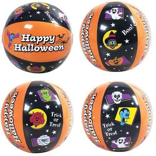 Halloween Beach Balls ~ 1DZ ~ Fun Halloween Themed Beach ball inflates ~ 16'' Festive balls ~ Trick or Treat ~ Boo ~ Happy Halloween ~ Party Birthday Decor Favors~ Festive Spooky Pool Fall Fun ~ by RN