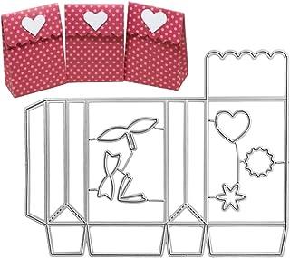 VINFUTUR 2pcs Troqueles Scrapbooking Cajas Regalo Dulce Troqueles Corte Metal Plantillas Troquelado Dies para Cajas Álbum Recorte Artesanía Papel DIY Manualidad