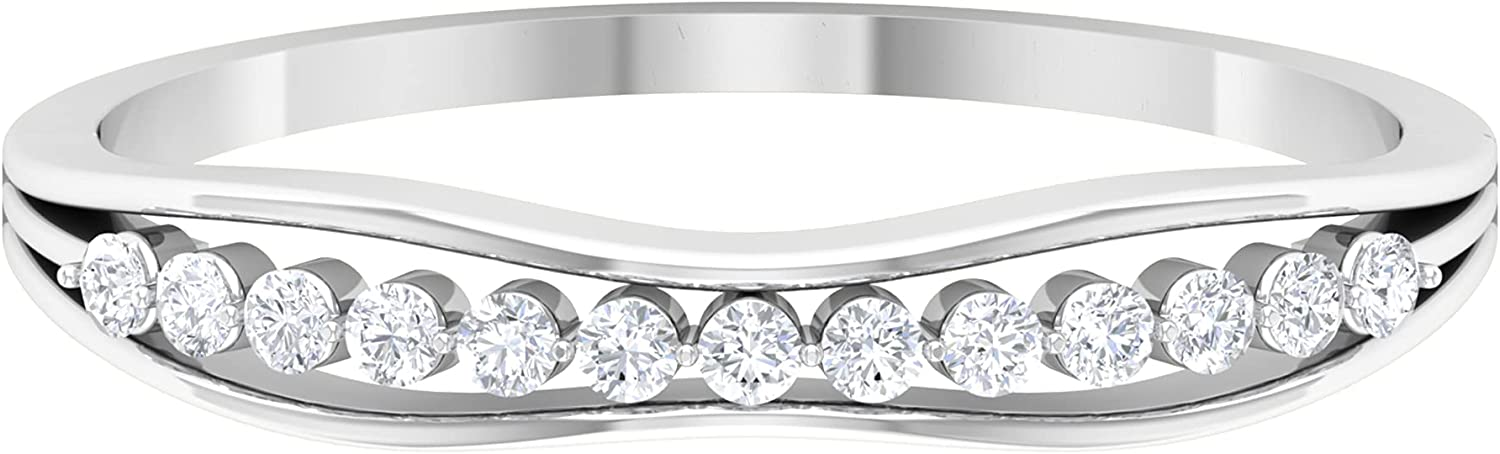 0.13 CT Round IGI discount Spring new work one after another Certified Diamond Gold M Ring 14k Anniversary