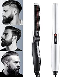 Wazdorf Quick Hair Styler for Men Electric Beard Straightener Massage Hair Comb Beard Comb Multifunctional Curly Hair Stra...