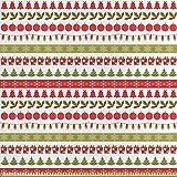 ABAKUHAUS Weihnachten Stoff als Meterware, Dezember Urlaub,