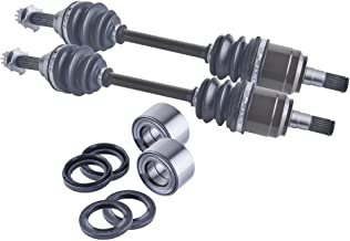East Lake Axle front cv axles wheel bearings & seals set compatible with Suzuki King Quad 450/700 2006-2009