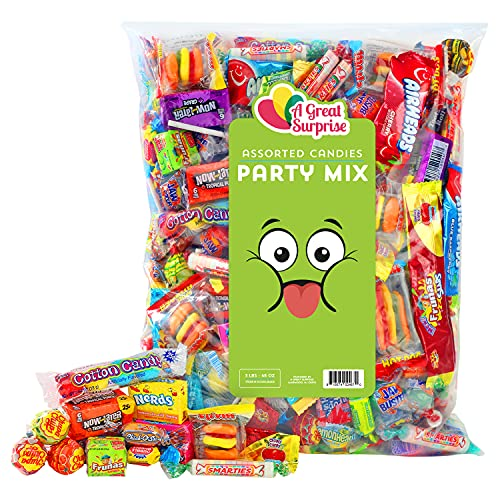 Party Mix - 3 Pound - Halloween Candy - Trick or Treat - Individually Wrapped Candies - Assorted...