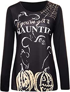 Halloween O-Neck Print Party Long Sleeve Pullover Sweatshirt Costume Tops
