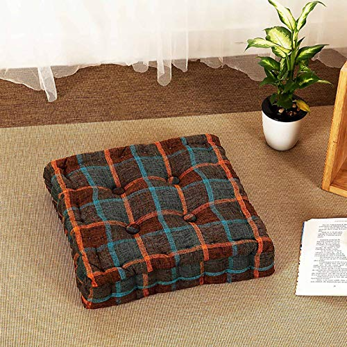 WZLJW Thick Padded Seat,Dining Chair Booster Cushion Square Soft Orthopaedic Seat Cushion 100% Polyester Filling-Brown 42x42cm