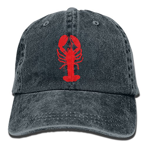 BaPaLa Denim Adjustable Baseball Cap Lobster Print Sport Fans Cap