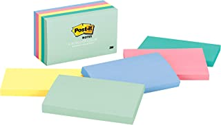 Post-it Notes, 3x5 in, 5 Pads, America's #1 Favorite Sticky Notes, Marseille Collection, Pastel Colors (Pink, Mint, Yellow...
