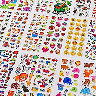 3D Stickers for Kids & Toddlers1200+ Puffy Stickers Variety Pack for Scrapbooking Bullet Journal Including Animal, Number...
