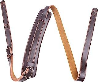 Rayzm Sangle de 5,5cm de largeur avec renforcement épaule et doublure daim, ceinture de qualité en cuir véritable pour gui...