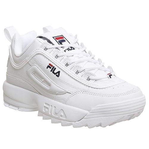 778af5fdf9 Fila Mujer Blanco Disruptor II Premium Zapatillas
