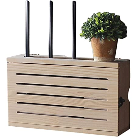 Multimedia Set-Top Box WiFi Caja De Almacenamiento De Pared Zócalo Blindaje Caja Dormitorio Sólido Router De Madera Estante De Almacenamiento De TV Gabinete DV Decoración De La Pared del Estante