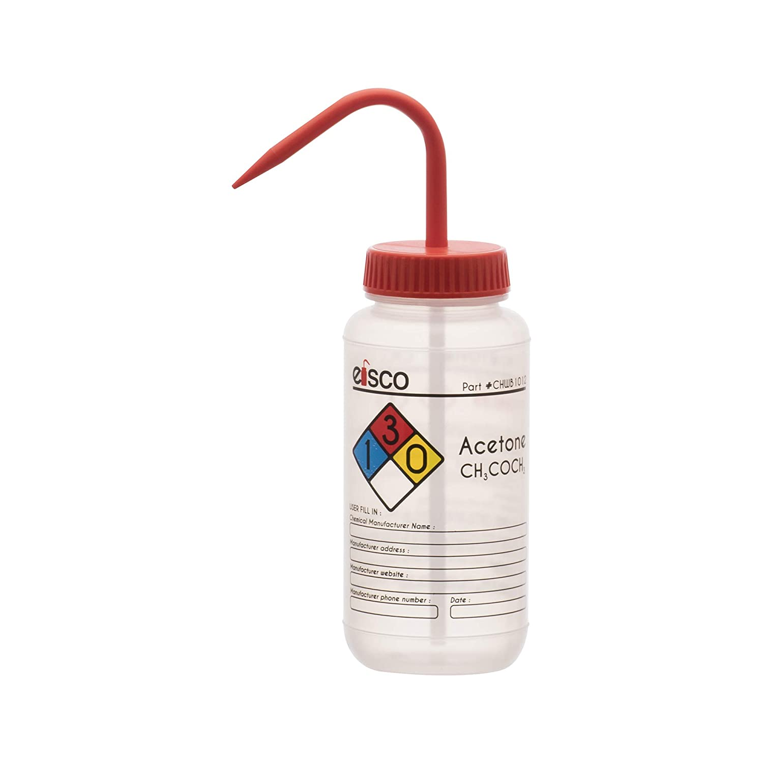 Wash Bottle Topics on TV for Acetone 500ml - Coded with latest Labeled Chemic Color