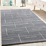 alfombra salon pelo corto gris