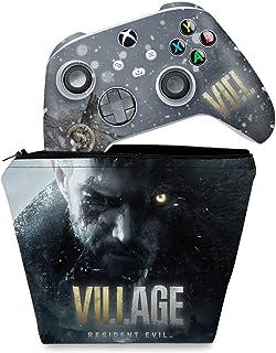 Capa Case e Skin Adesivo Xbox Series S X Controle - Resident Evil Village