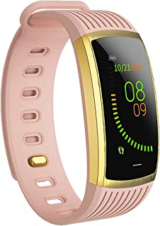 AOE Fitness Tracker with Heart Rate, Blood Pressure, Calories, Pedometer, Sleep Monitor, Remind Call/SMS, Activity Tracker IP67 Waterproof Smart Bracelet, Environmental Smart Watch for Women/Men/Kids