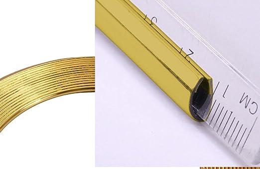 phil trade/® Keder U Profil Zierleiste Kantenleiste KfZ T/ürleiste in verschiedenen L/ängen 1 Meter Gold