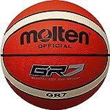 Molten 0728_010085, Pallone da Basket Uomo, Arancio, 7