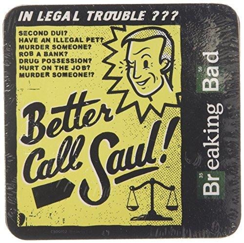 Breaking Bad Better Call Saul offiziell Nue Schwarz Untersetzer (10cm x 10cm)