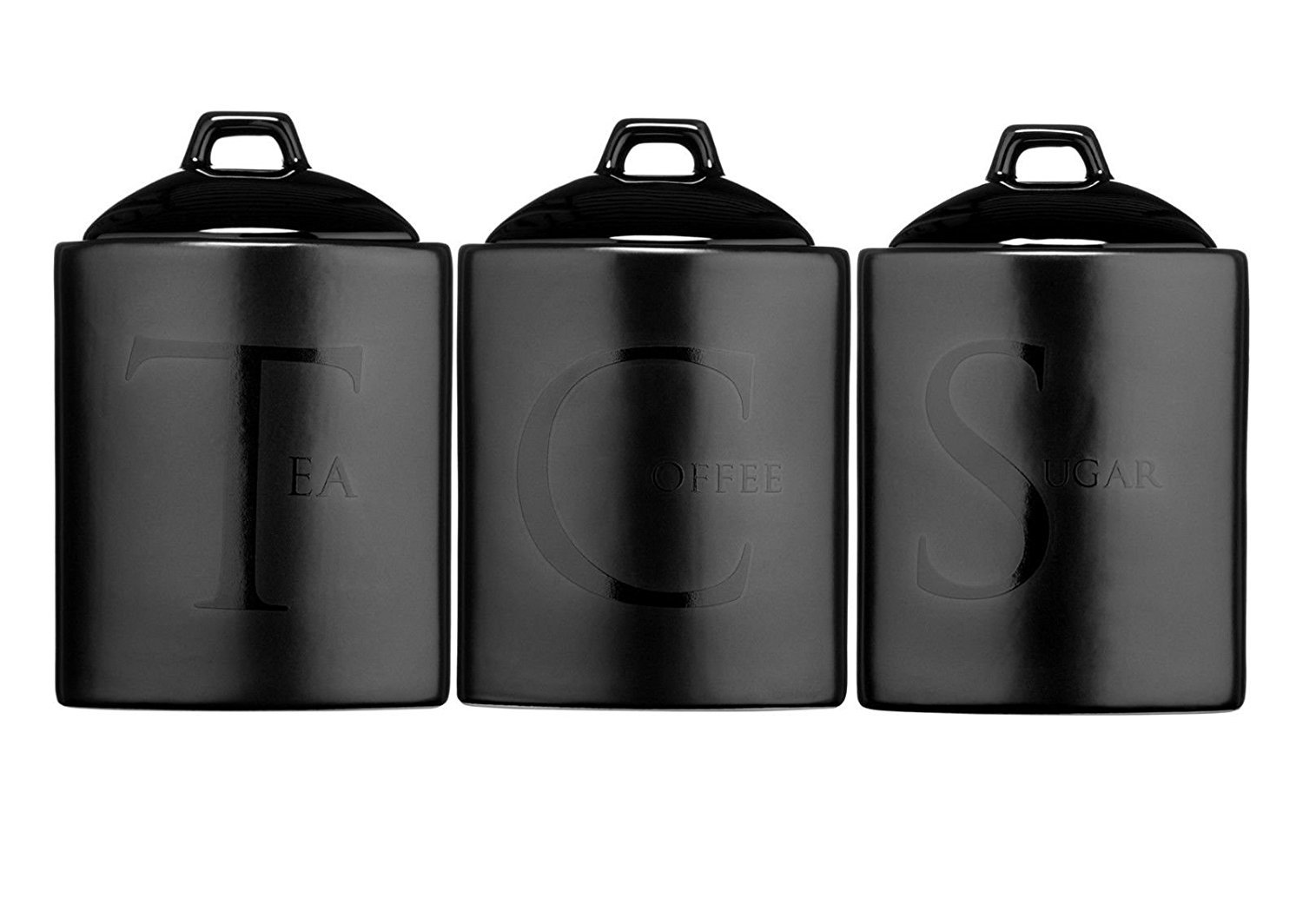 black kitchen canisters amazon co uk rh amazon co uk  black canisters for kitchen australia